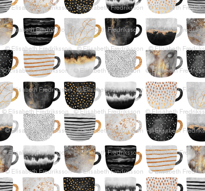 Pretty Coffee Cups - Grey - Micro