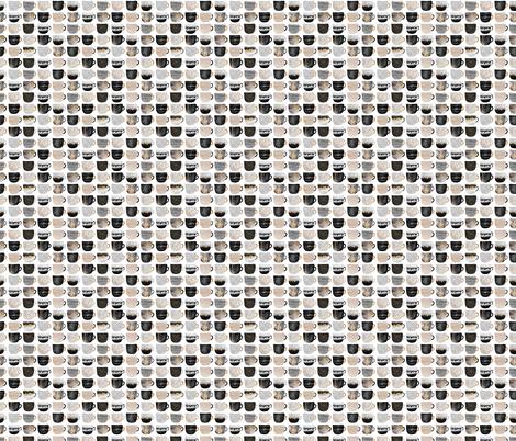 Pretty Coffee Cups - Grey - Micro fabric by elisabeth_fredriksson on Spoonflower - custom fabric