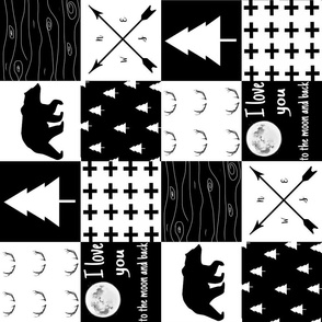 Monochrome quilt rotated
