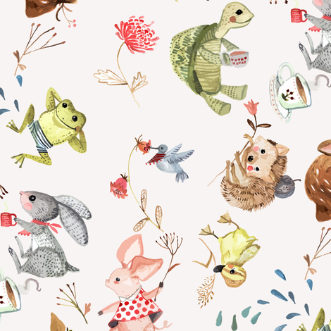 WM - Hare and Tortoise - big scale fabric by gomboc on Spoonflower - custom fabric