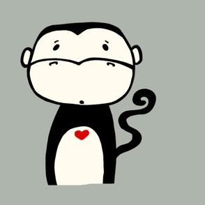 Monkey plush pillow