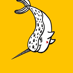 Narwhal cushion pillow