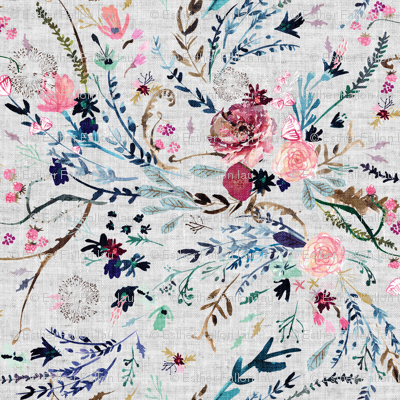 Fable floral (MED) (grey)