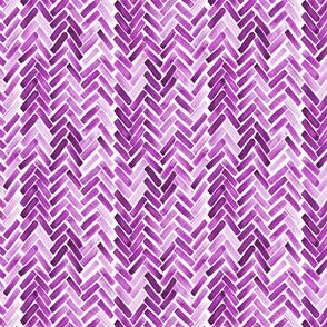 Purple watercolor herringbone