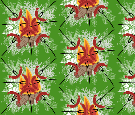 cook-out fabric by kae50 on Spoonflower - custom fabric