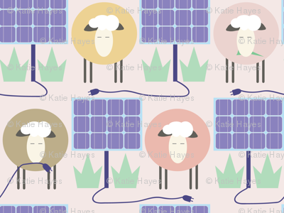 Off the Grid: Sheep mow between Solar Panels