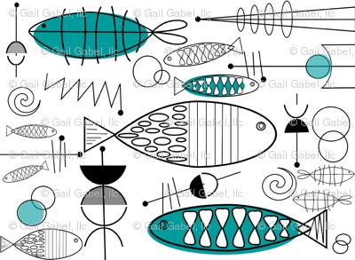 Mid-century Fish Art