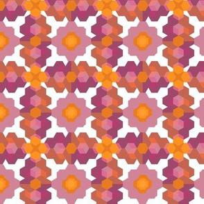 Cubic Floral Pink