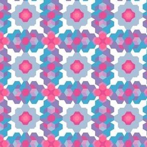 Cubic Floral Blue