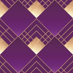 Modern Art Deco in Violet & Gold