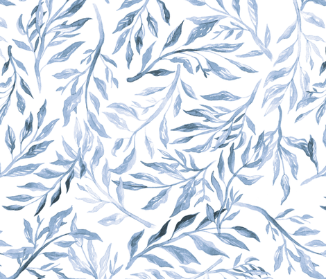 Watercolor Branches fabric by elizabethatlas on Spoonflower - custom fabric