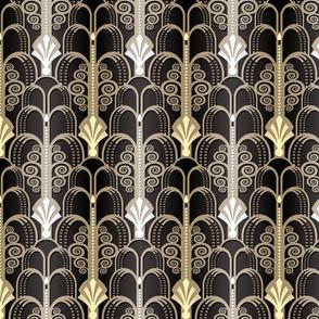 Art Deco Pattern black/gold