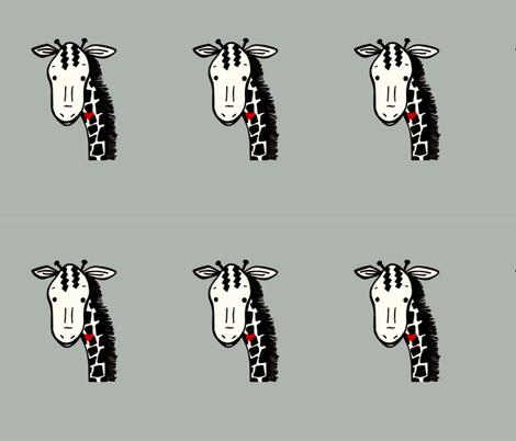 Giraffe plushy pillow fabric by andmonstertoys on Spoonflower - custom fabric