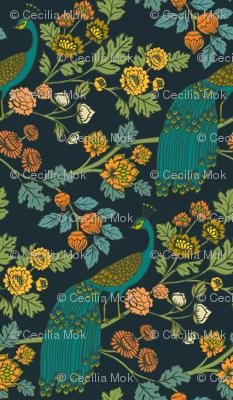 Peacock Garden {Midnight Wonderland}