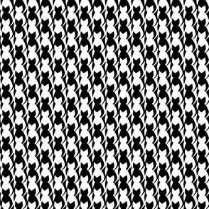 Custom Black and White Cats Tesselation