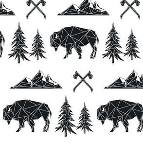 Bison - Tribal Geometric Buffalo GingerLous