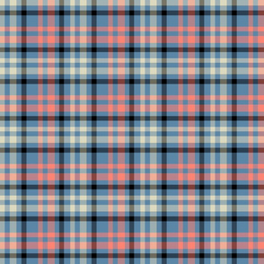 Pink, Blue and Black Madras plaid