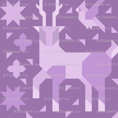 Deer and Bird (Monochrome)