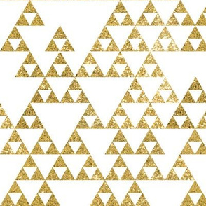Gold Glitter Triangles
