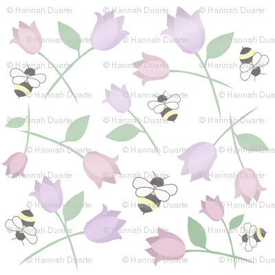 bees amoung flowers