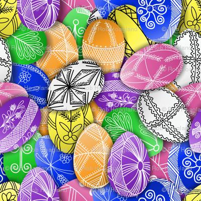 polish easter eggs pattern small pisanki
