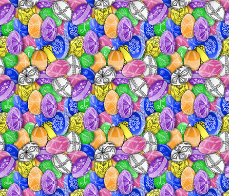 polish easter eggs pattern small pisanki fabric by b0rwear on Spoonflower - custom fabric