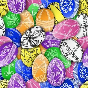 polish easter eggs pattern small pisanki