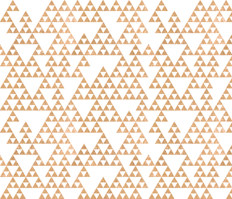 Rose Gold Glitter Triangles fabric by geekygamergirl on Spoonflower - custom fabric
