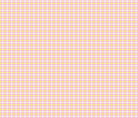 pink and yellow plaid fabric by lorloves_design on Spoonflower - custom fabric