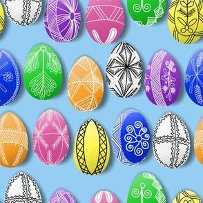 polish easter eggs on blue small
