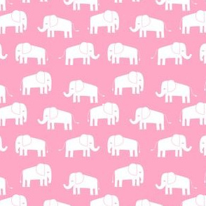 elephant fabric // - elephants, elephant, baby, nursery, cute elephant design - pink