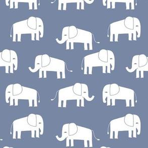 elephant fabric // - elephants, elephant, baby, nursery, cute elephant design - stonewash