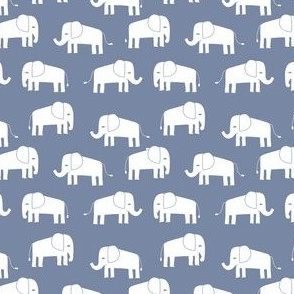elephant fabric // - elephants, elephant, baby, nursery, cute elephant design - stonewash