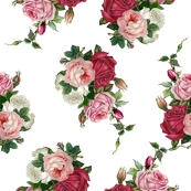 Pink Rose Bouquet White