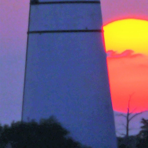 the lighthouse sunset