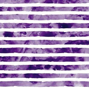 watercolor stripe - dark purple - mermaid color option 3 coordinate
