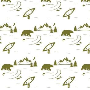bear river - moss on white