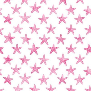 (small scale) starfish - pink