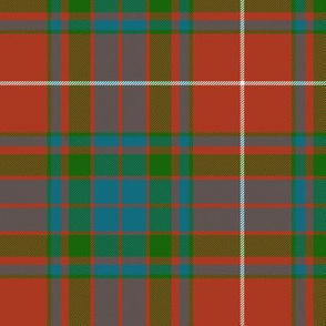 "Fraser gathering red tartan, 6"" ancient"