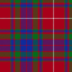"Fraser gathering red tartan, 6"" modern"