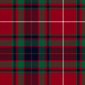 "Fraser gathering red tartan, 6"" muted"