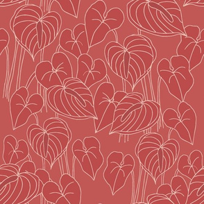 sketchy anthuriums on berry