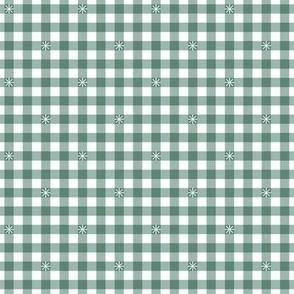 Stitched Gingham* (Camouflage)    check star starburst stitching needlework checkerboard spring summer 70s retro vintage