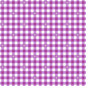 Stitched Gingham* (Lavender Disaster) || check star starburst stitching needlework checkerboard spring summer 70s retro vintage pastel
