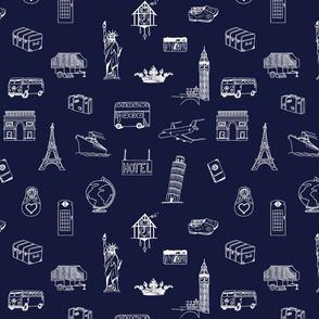 Travel Adventure Navy