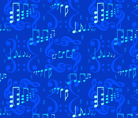 I Got Them Monochromatic Blues fabric by anneostroff on Spoonflower - custom fabric