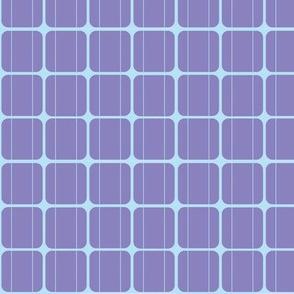 Solar Panel- Purple and Sky Blue