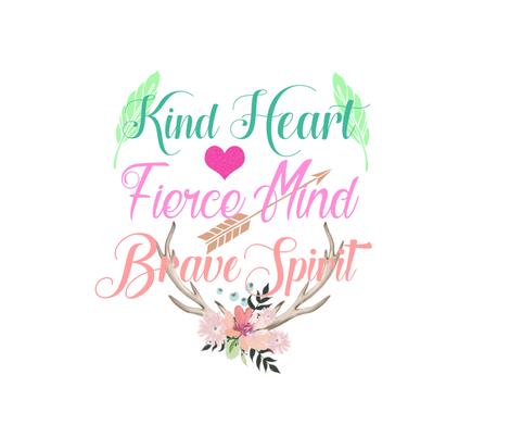 Kind Heart fabric by jodyport on Spoonflower - custom fabric