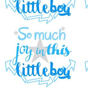 Joy for little boy