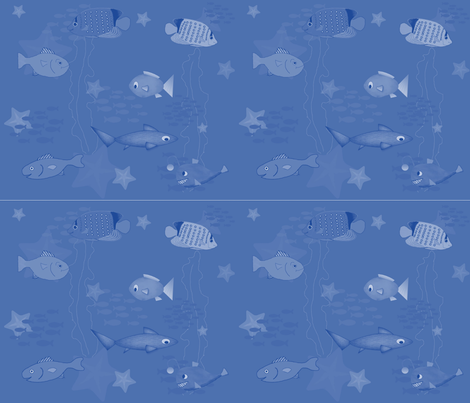 happy_fish fabric by threadsndoodles on Spoonflower - custom fabric